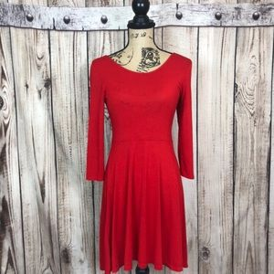 Express Red A-Line Backless Dress Small